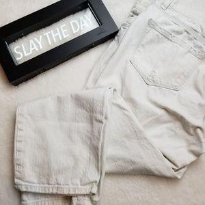 Ann Taylor Loft White Jeans Size 14P